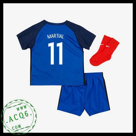 08d33a3153 Camisas De Futebol França Martial Euro 2016 2017 I Infantil ...
