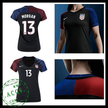 Uniformes Futebol Eua Morgan 2016 2017 Ii Feminina - camisolas de ... 0191bc5d4600e
