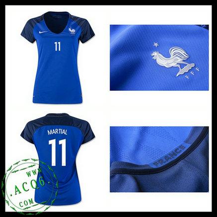 420f1028ea Camisa De Futebol MARTIAL França Autêntico I Euro 2016 2017 FEMININA