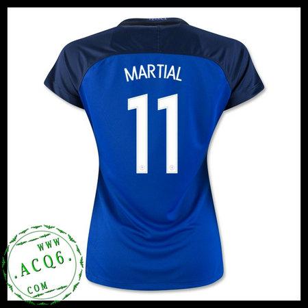 bed531d637 Camisa De Futebol França Martial Euro 2016 2017 I Feminina ...