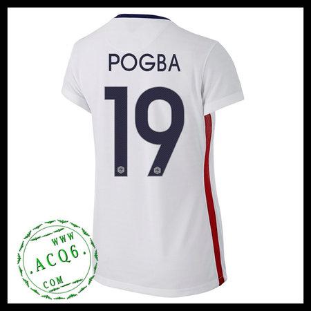 e5433745e1 Camisas Futebol (19 Pogba) França Autêntico Ii Euro 2016 Feminina ...