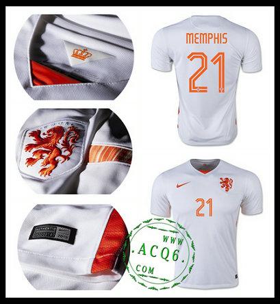 72ea113122ad4 Camisas Futebol Holanda (21 Memphis) 2015 2016 Ii Masculina ...