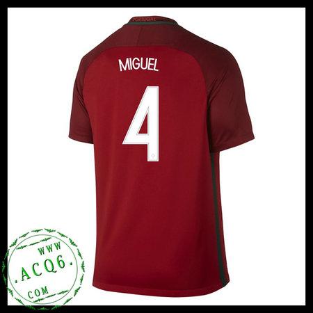 Camisa De Futebol Portugal Miguel Euro 2016 2017 I Masculina ... dae3a477162dc