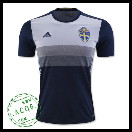 6ec349be3a Camisa Futebol Suécia Autêntico Ii Euro 2016 Masculina - camisolas ...