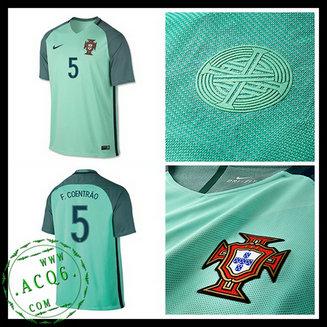 Uniformes Futebol F.COENTRAO Portugal Autêntico II Euro 2016 2017 MASCULINA 00350cbeb7066
