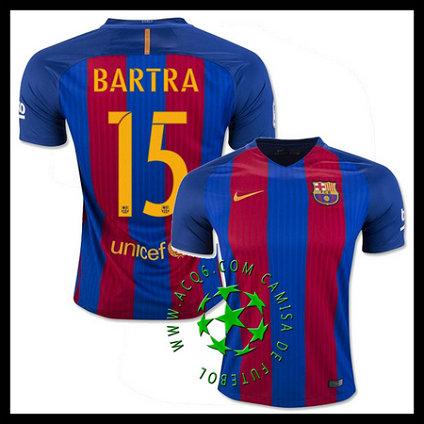 Comprou Uniforme Futebol BARTRA Barcelona MASCULINA 2016 2017 I Loja On-Line 30012b80e6c