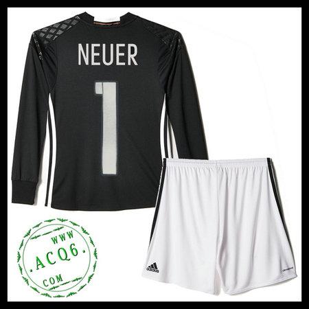 Camisetas (1 Neuer) Alemanha Autêntico I Manga Longa Goleiro Euro ... 76be998cb966c