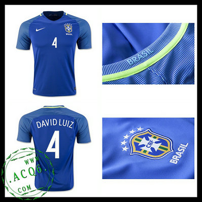 Camisa Futebol Brasil David Luiz 2016 2017 Ii Masculina - camisolas ... ee892015c2d3d