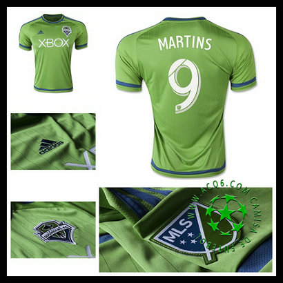 Camisetas I Seattle Sounders (9 MARTINS) 2015-2016
