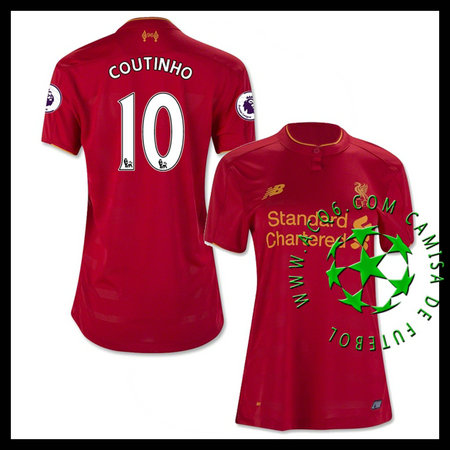 Camisas De Futebol Liverpool Coutinho 2016 2017 I Feminina ... 972f3ecd51828
