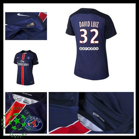 Camisa De Futebol Paris Saint Germain David Luiz 2015 2016 I ... 5be7d365040c8