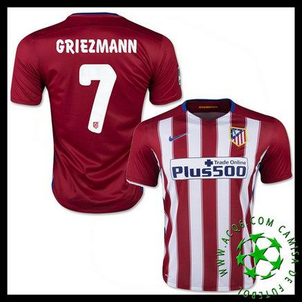 Camisa Futebol Atlético de Madrid (7 GRIEZMANN) 2015 2016 I MASCULINA 60c3b2047dcf5