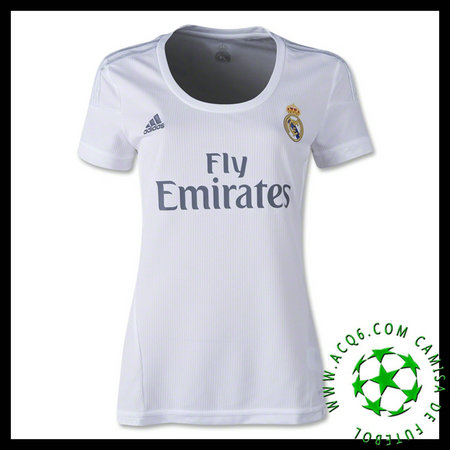 Camisa Du Futebol Real Madrid 2015 2016 I Feminina - camisolas de ... 279e1a2a7a44f