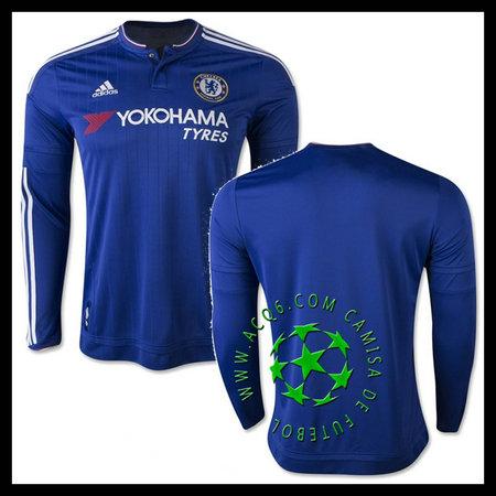 Camisa Futebol Chelsea Manga Longa 2015 2016 I Masculina - camisolas ... 23a2594864ecc