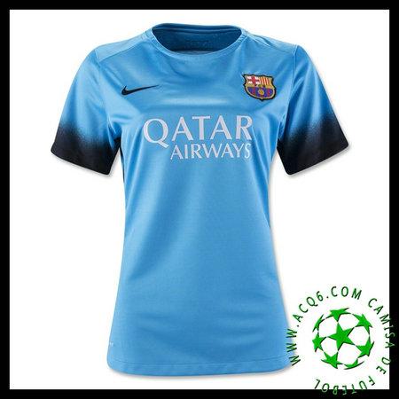 0b30945a7e120 Camisa Futebol Barcelona 2015 2016 Iii Feminina - camisolas de ...