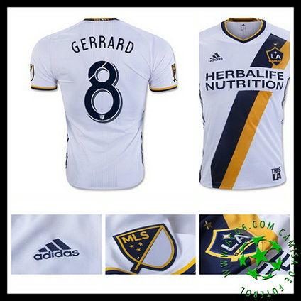 de77cbdbd3cb8 Do Local De Venda Camisas Futebol Gerrard La Galaxy Masculina 2016 ...