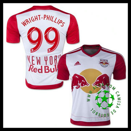 Camisa De Futebol New York Red Bulls (99 WRIGHT PHILLIPS) 2015 2016 I MASCULINA