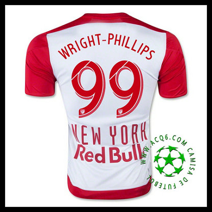 New York Red Bulls Camisa De Futebol (99 WRIGHT PHILLIPS) 2015 2016 I MASCULINA