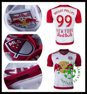 Camisa De Futebol (99 WRIGHT PHILLIPS) New York Red Bulls MASCULINA 2015 2016 I