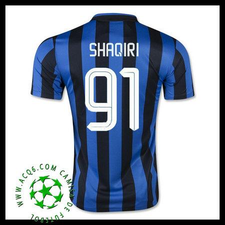 Camisas De Futebol Inter De Milão (91 Shaqiri) 2015 2016 I Masculina ... f2c5c516c38ce