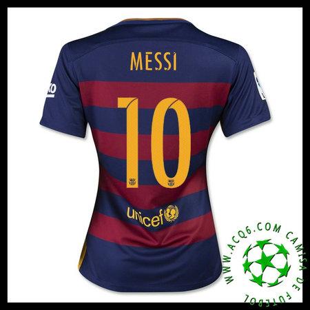 Camisas Futebol Barcelona (10 Messi) 2015-2016 I Feminina ... 0829a001c86dd