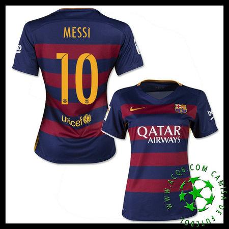 d16b203354ace Camisas Futebol Barcelona (10 Messi) 2015-2016 I Feminina ...