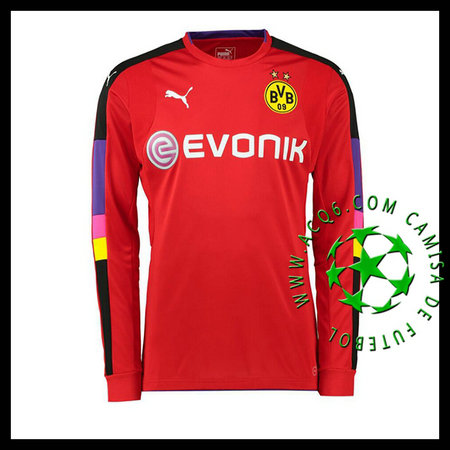 Camisa Futebol Borussia Dortmund Goleiro 2016 2017 I Vermelho ... ed92aadd747c6