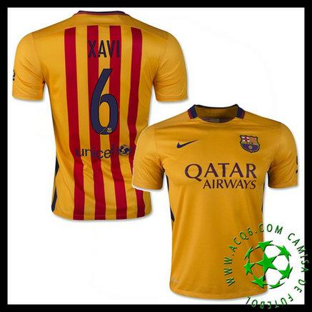 7f7f428bbb132 Camisas Futebol Barcelona (6 Xavi) 2015 2016 Ii Masculina ...
