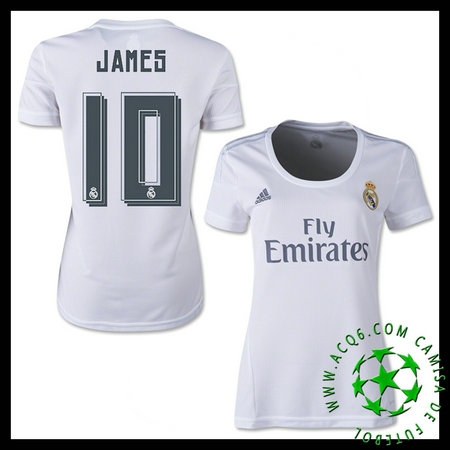Camisas Futebol (10 James) Real Madrid FEMININA 2015 2016 I