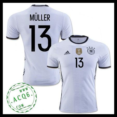 Camisas Futebol (13 Muller) Alemanha Autêntico I Euro 2016 Masculina ... 81ddc0bba0205