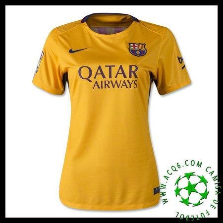 Uniformes Futebol Barcelona (8 A.Iniesta) 2015 2016 Ii Feminina ... 3fa92a0fa07ea