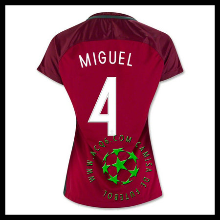 Criar Uniforme Futebol MIGUEL Portugal FEMININA 2016 2017 I Loja On-Line c295a866fafa1
