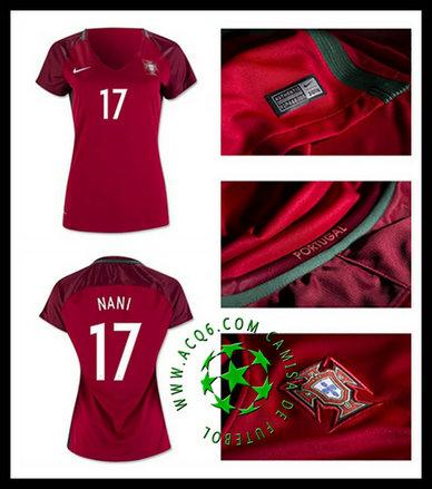 a761997fd16cd Crie Sua Camisetas Nani Portugal Feminina 2016 2017 I Online Store ...