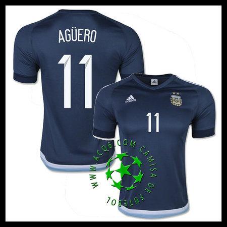 Novo Uniformes Futebol AGUERO Argentina MASCULINA 2016 2017 II On-Line 0d161da48f001