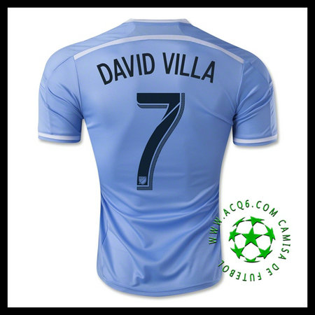 0ca77f19b1 Camisas Futebol New York City FC (7 DAVID VILLA) 2015 2016 I MASCULINA
