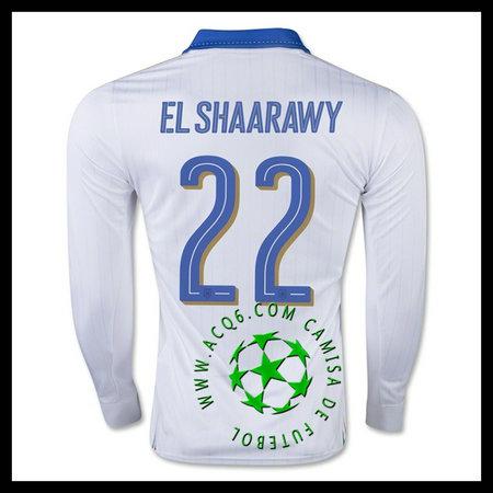 Atacadista Uniforme Futebol Manga Longa EL SHAARAWY Itália MASCULINA 2016  2017 II Loja On-Line eef40817febe1