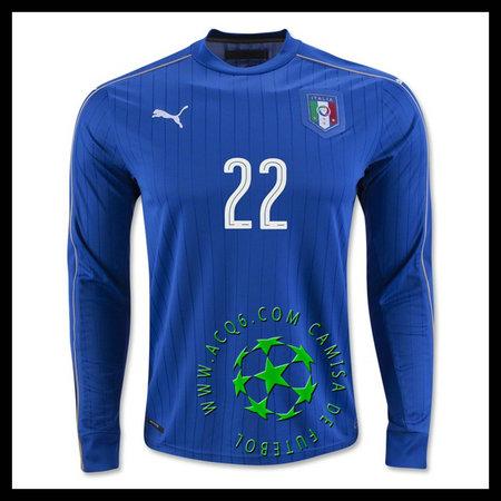 Compra Uniformes Futebol Manga Longa EL SHAARAWY Itália MASCULINA 2016-2017  I Loja On-Line b4ffa002bc6a6