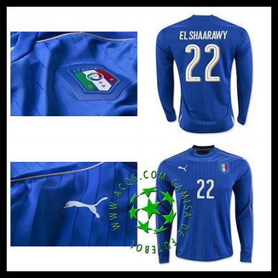 Compra Uniformes Futebol EL SHAARAWY Itália Manga Longa 2016-2017 I  MASCULINA aa6dfa4f5c726