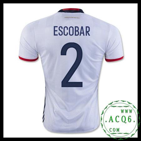 Equilíbrio Camisa Escobar Colômbia Masculina 2016-2017 I Loja On ... eaf5585b04e0c