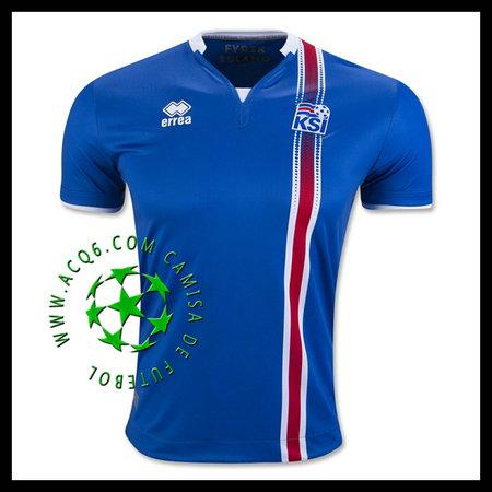 421467cd74333 Compra De Camisa Futebol Islândia Masculina Euro 2016 2017 I Loja On ...