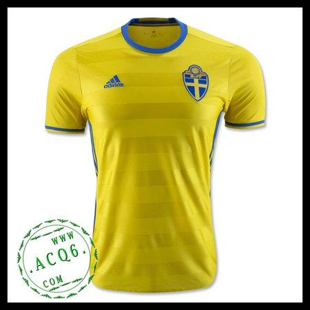 952bb11734 Camisas Futebol Suécia Autêntico I Euro 2016 Masculina - camisolas ...