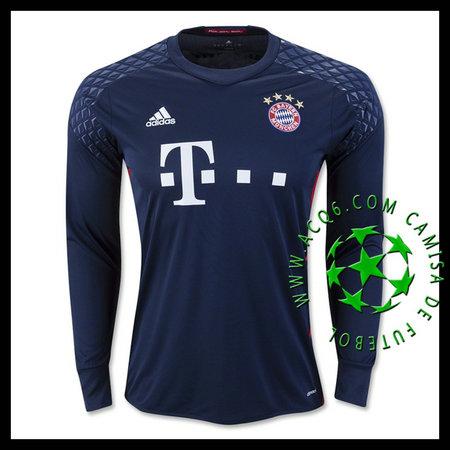Camisas Futebol Bayern Munich Manga Longa 2016 2017 I Goleiro ... 72bba69650120