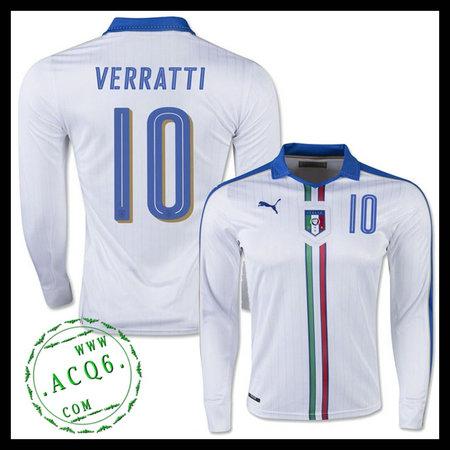 b9b17b8bd0 Camisas Du Futebol Manga Longa (10 VERRATTI) Itália MASCULINA Euro 2016 II