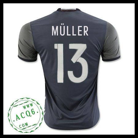Camisas De Futebol (13 Muller) Alemanha Autêntico Ii Euro 2016 ... 4f5bb15996b4b