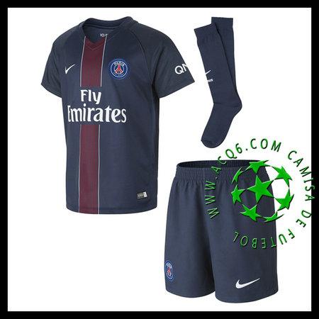 47b4c9a74 Camisa Du Futebol Paris Saint Germain 2016 2017 I Infantil ...