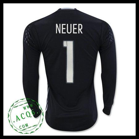 7d55ca41aa Camisa (1 Neuer) Alemanha Autêntico I Manga Longa Euro 2016 Goleiro ...