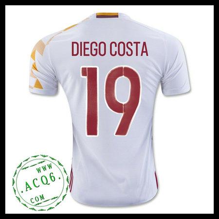 a99dc62392 Camisa De Futebol (19 Diego Costa) Espanha Autêntico Ii Euro 2016 ...