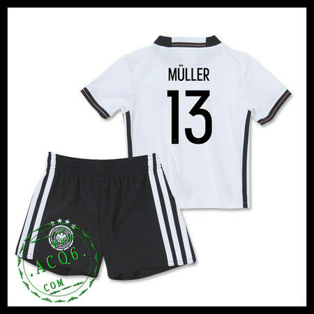 Camisa De Futebol (13 Muller) Alemanha Autêntico I Euro 2016 ... edc7d8fdd47a0