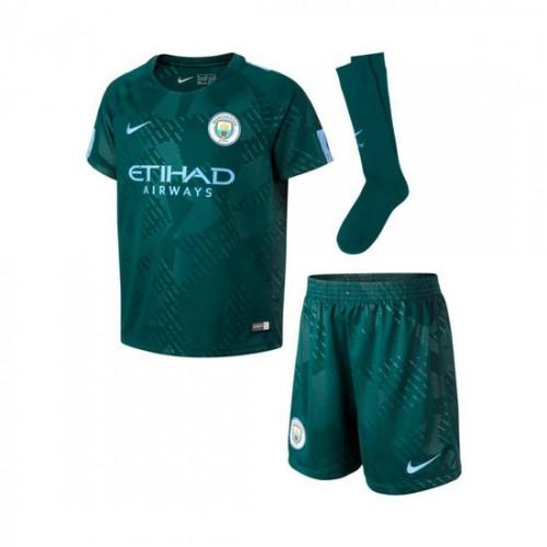 Brasília Conjunto Nike Manchester City FC Equipamento Alternativo 2017-2018  Criança Outdoor Verde-Field Azul f5b92d9bb4662
