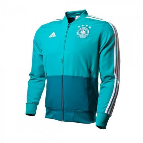 5b1858b6b87 Comprar Casaco adidas Previa Alemanha 2017-2018 Verde-Real teal-Branco